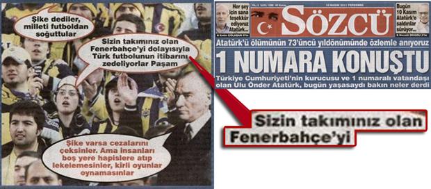 Sözcü Gazetesi'nin Atatürk yalanına desteği