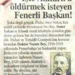 1926 yılında Atatürk tarafından idam ettirtilen FB Başkanı Dr.Nazım Bey